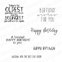 HAPPY BIRTHDAY TO YOU SENTIMENT SET