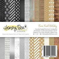 Paper Pad 6x6 | 24 Double Sided Sheets | Farm Fresh Holiday