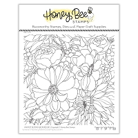 Harvest Blooms Background | 6x6 Stamp Set
