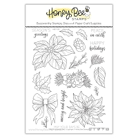 Pretty Poinsettias | 6x8 Stamp Set