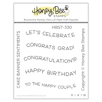 Cake Banner Sentiments | 2x2 Stamp Set