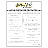 Inside: Birthday Sentiments | 6x6 Stamp Set
