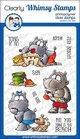 Hippo Fun in the Sun Clear Stamps