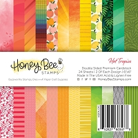 Paper Pad 6x6 | 24 Double Sided Sheets | Hot Tropics