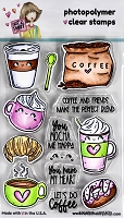 I Heart Coffee - 4X6 Clear Stamp - N2S