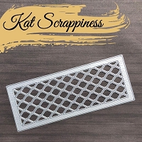 Slimline Wood Grain Framed Diamond Wire Die by Kat Scrappiness