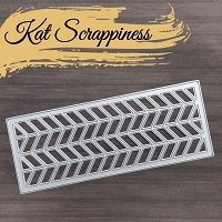 Slimline Chevron Cover plate Die by Kat Scrappiness