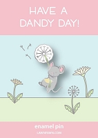 dandy mouse enamel pin