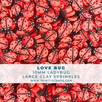 Love Bug  Bunch - Mix of 10mm & 5mm Ladybug Clay Sprinkles