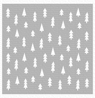 Pine Tree Forest Stencil WS