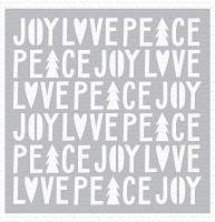 Peace, Love, and Joy Stencil WS