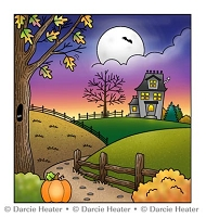 Halloween Scene - CLEAR STAMP