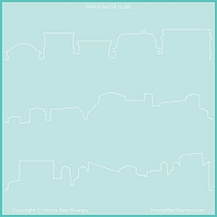 Paris Skyline | Background Stencil