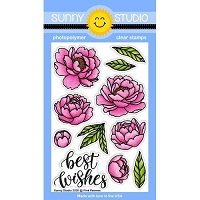 PINK PEONIES STAMPS
