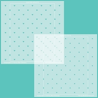 Quilted Hearts & Dots | Stencils | Set of 2