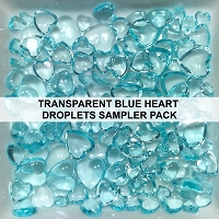 Transparent Blue Heart Droplets Sampler Pack