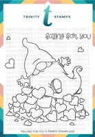 4x4 Falling For You Stamp Set