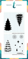 Layered Pine Tree - 6x6 Laser Cut 2-Piece layering Stencil Set