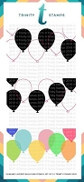 Slimline Layered Balloons- 6x9 Laser Cut 2-Piece Stencil Set
