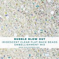 Bubble Blow Out - Flat-back Embellishment Mix
