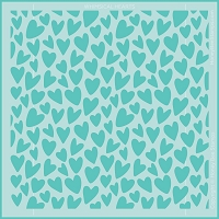 Whimsical Hearts | Background Stencil