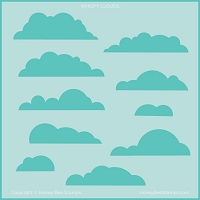 Wispy Clouds | Background Stencil