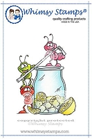 Ants Drink Up Rubber Cling Stamp