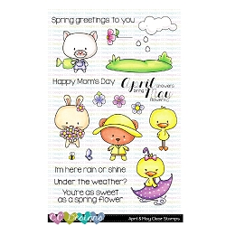 April & May Clear Stamps