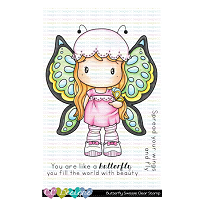 BUTTERFLY SWISSIE CLEAR STAMP SET