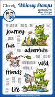 Camping Dragons Clear Stamps