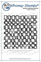Checkerboard Doodles Background Rubber Cling Stamp