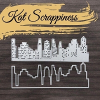 Slimline Layered Cityscape Dies by Kat Scrappiness