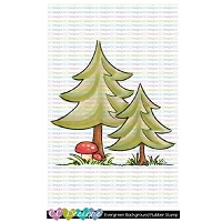 EVERGREEN BACKGROUND RUBBER STAMP