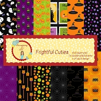 Frightful Cuties 6X6 Scrapping for Less Paper Pad
