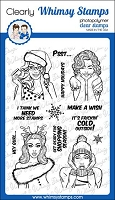Gossip Holiday Girls Clear Stamps