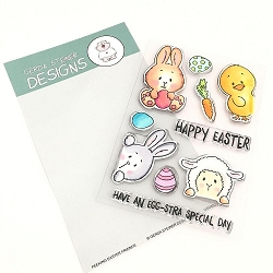 Peeking Easter Friends Clear Stamp Set