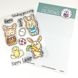 Easter Bunnies 4x6 Clear Stamp Set