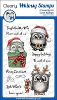 Happy Owlidays Clear Stamps