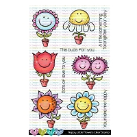 HAPPY LITTLE FLOWERS CLEAR STAMPS
