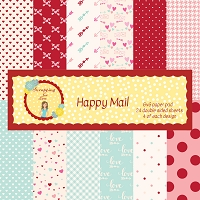 Happy Mail 6X6 Scrapping for Less Paper Pad
