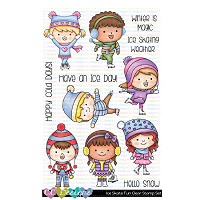 ICE SKATE FUN CLEAR STAMP SET