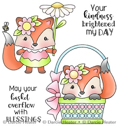 Spring Fox - Clear Stamp