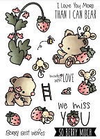 Strawberry Patch Clear Stamp