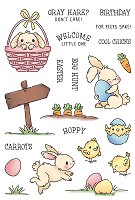 Hoppy Egg Hunt 4x6 Stamps