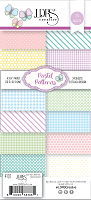 Basic Spring Pattern Slim Line Paper Pack- 4x9