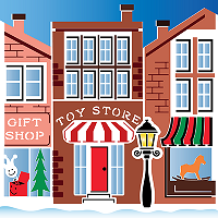 Christmas on Main Street 2-Pack 6x6