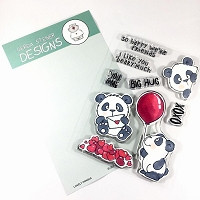 Lovely Pandas 4x6 Clear Stamp