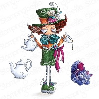 ODDBALL MAD HATTER RUBBER STAMP (ALICE IN WONDERLAND COLLECTION)