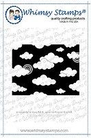 Mini Cloud Background Rubber Cling Stamp