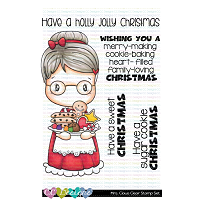 MRS. CLAUS SWISSIE CLEAR STAMP SET